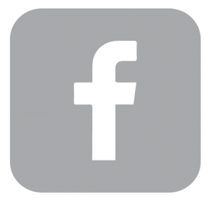 Gray Facebook logo